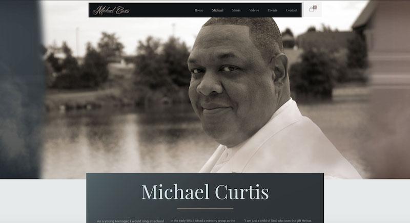 A Screen Capture of MCurtisMusic.com