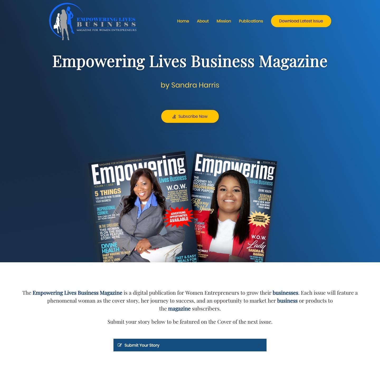 Empowering Lives Magazine - Website - 2